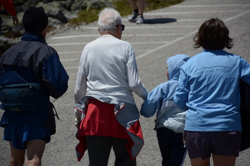 Here's Ed and Katie hand in hand just about 250 feet away from the finish line. Photo credit: Mary Sheldon, N1RKO 2013