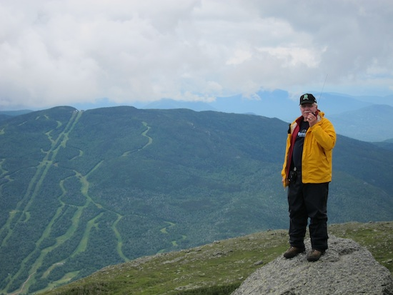 I'm on Mt. Washington at the 2011 Climb to the Clouds Auto Race up the storied sinuous road to the summit!