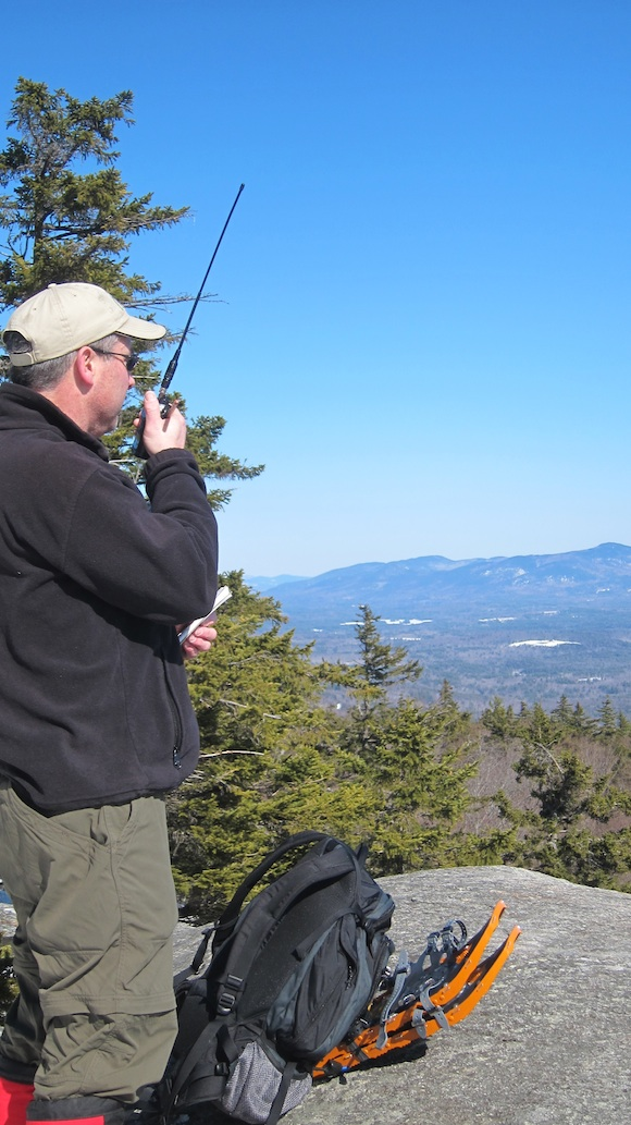 Here's Cliff, N1RCQ, operating at the summit of Mt. Morgan. Photo credit: Tim Carter - W3ATB