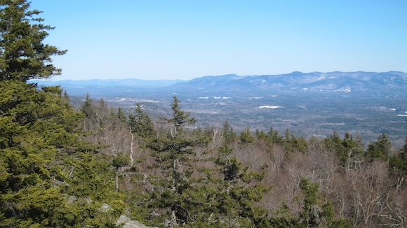 Here's the view up the Mt. Washington valley looking north northeast. Photo credit: Tim Carter, W3ATB