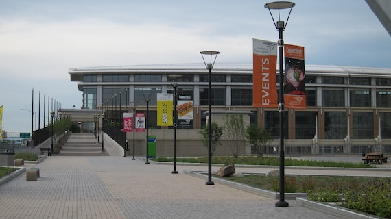 This is where we were headed, the convention center in downtown Hartford, CT. Photo credit: Tim Carter - W3ATB