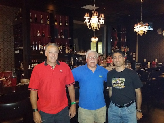 I had the pleasure of meeting Tom Tyler (in red) and Michael Lorello at dinner. We shared great stories and fantastic food fare! Thanks Tom and Mike for sharing your evening with me. Photo credit: Our nice young waitress