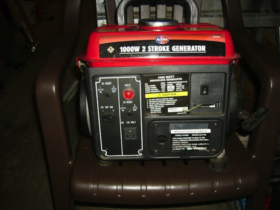 This 1000-watt two-stroke generator will be RAFFLED off to anyone coming to the club meeting. Ticket prices are $2 each or 3 tickets for $5. Proceeds go to the club general fund.