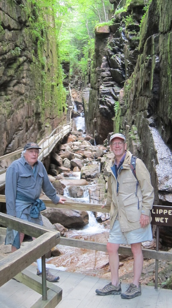 Dick and Jim in the Flume. Photo credit: Tim Carter - W3ATB