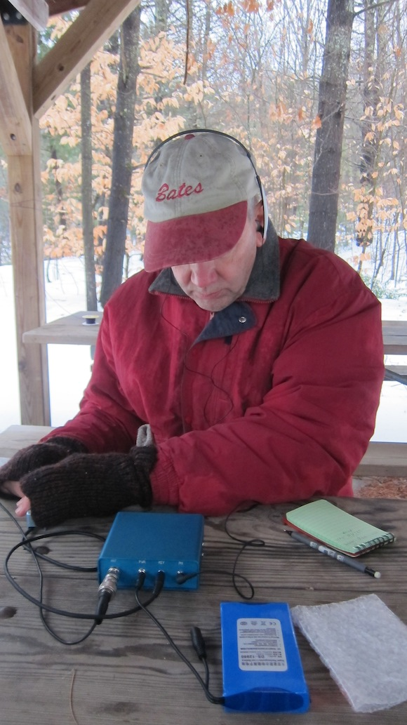 Here's Jim doing his QSO with Ben, DL5ANT. Photo credit: Tim Carter - W3ATB
