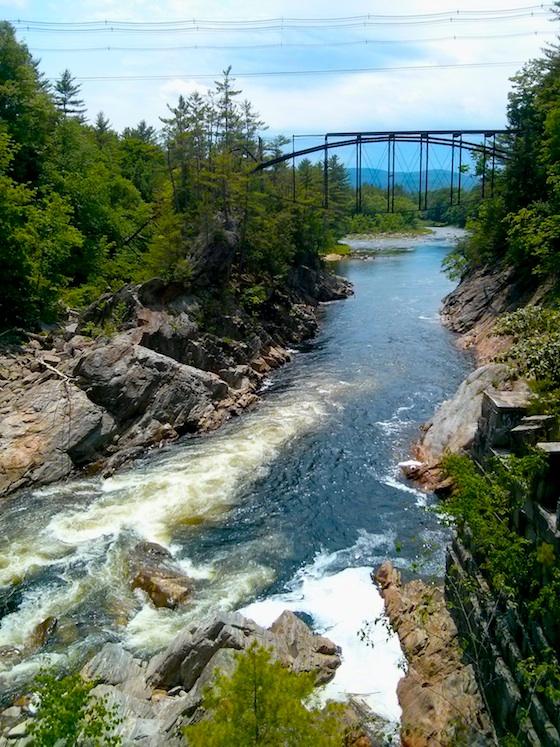 Livermore Falls lenticular arch bridge