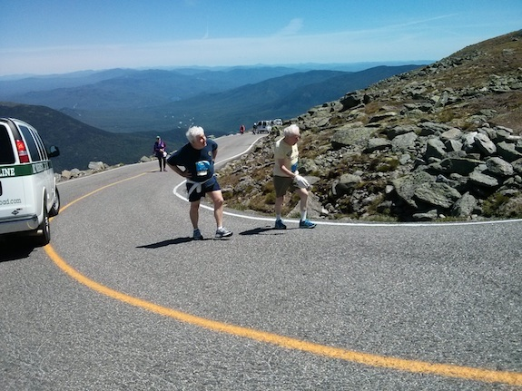 Here's George Etzweiler and his son. If George can walk or climb to the top of Mt. Washington at age 95, you know you can do things you thought impossible. Photo credit: Tim Carter