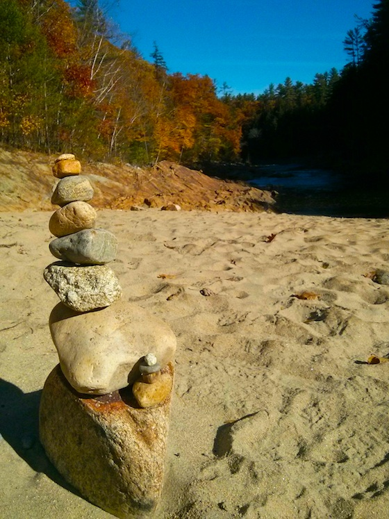 This cairn was about 18 inches tall. I wonder how long it will stand?