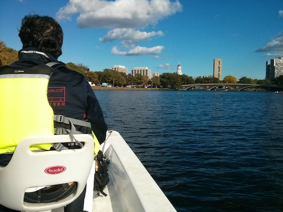 Here's what the weather looked like after lunch. It was a great day on the water. Photo credit: Tim Carter - W3ATB