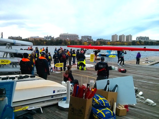 Volunteers on the Dock at MIT