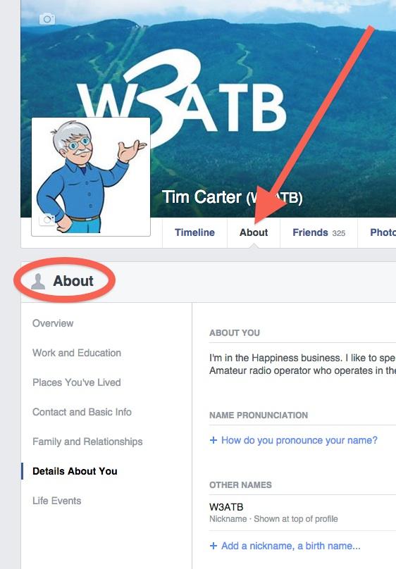 ham callsign facebook