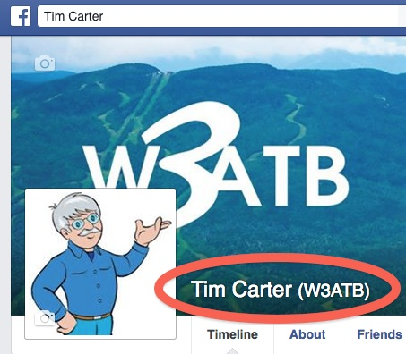 How to Add Call Sign to Facebook Page | W3ATB