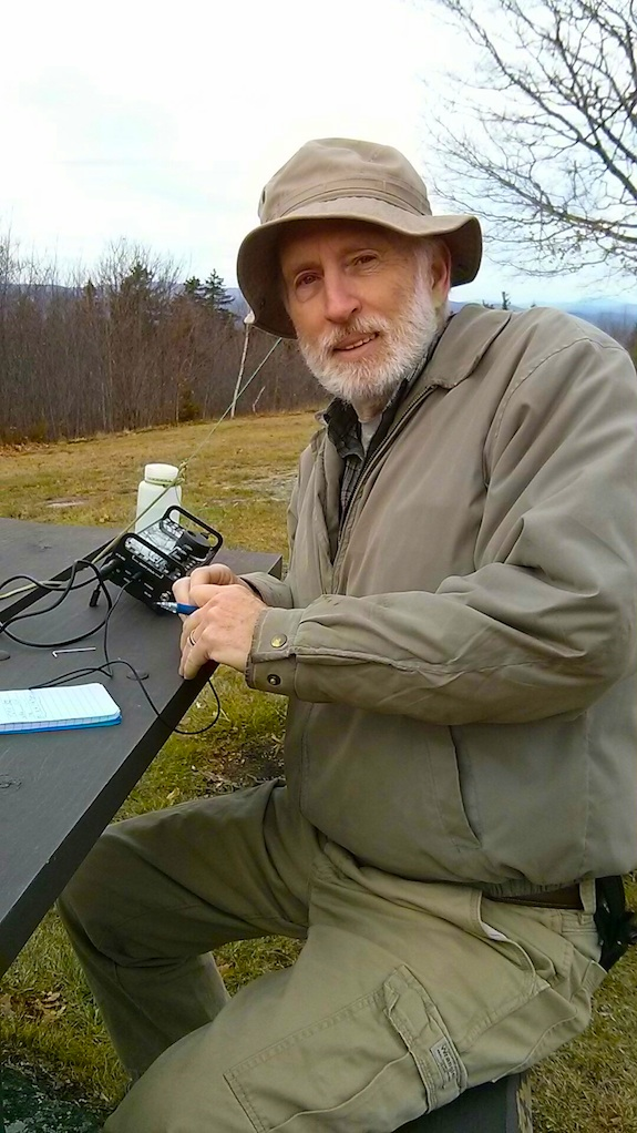 Here's Dave Benson, K1SWL. He loves the outdoors and doing radio. Photo credit: Jim Cluett - W1PID