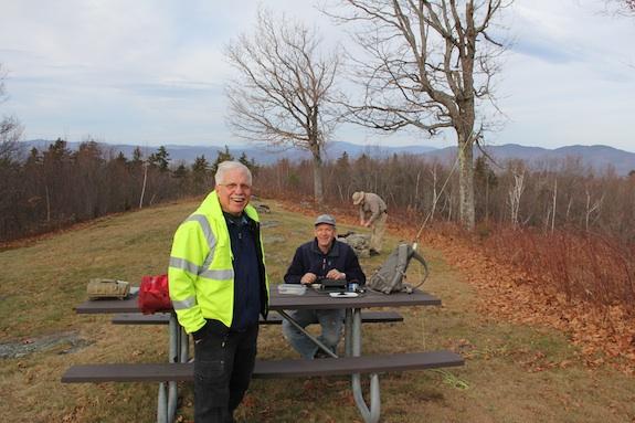 Here I am with Jim Cluett and Dave Benson. Photo credit: Hanz Busch - W1JSB