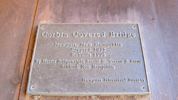 corbin bridge plaque