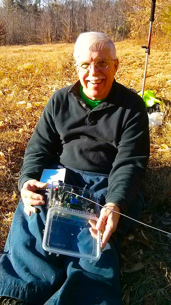 You bet I was happy. A year ago I'd STRUGGLE to get one QSO and here today I'd get four! Photo credit: Jim Cluett - W1PID