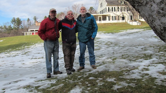 Here we are after the successful activation. From left to right: Jim Cluett - W1PID, Tim Carter - W3ATB, Dave Benson - K1SWL Photo credit: 10 second timer on Canon S-95 and tilted tree branch