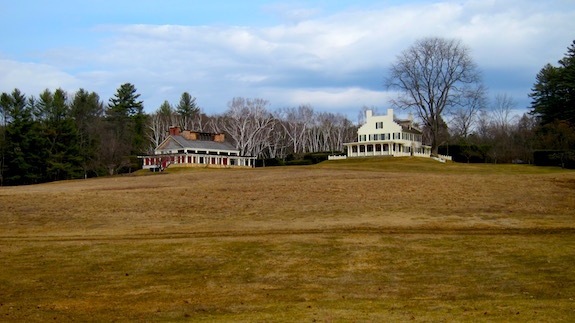 The large white house on the right is where the sculptor lived. We operated in the parking lot about 300 feet to the right of the house. Photo credit: Tim Carter - W3ATB
