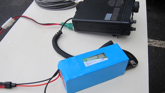 Here's the great Bioenno battery and Dave's IC-706. CLICK the image to BUY Bioenno batteries.