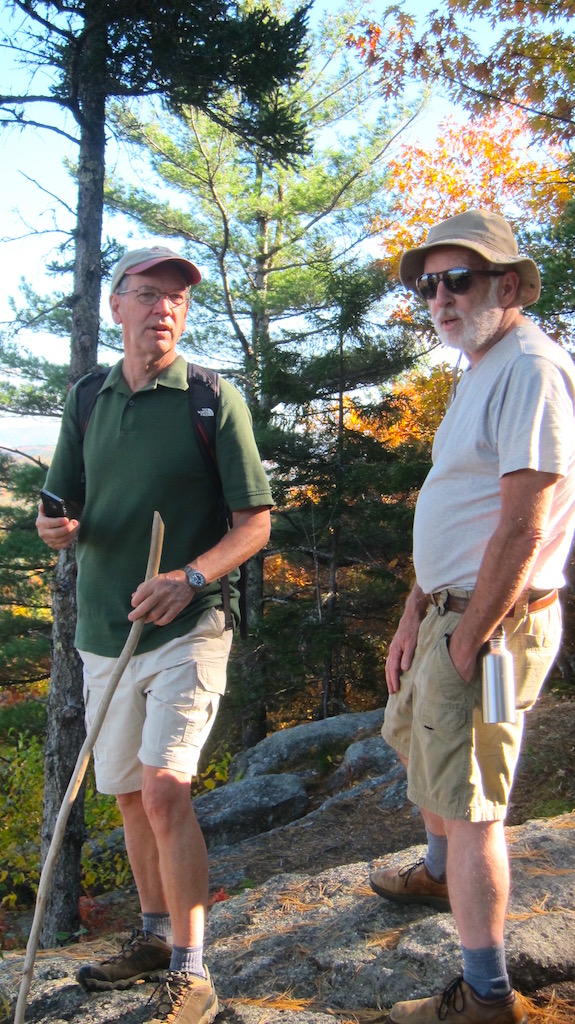 Jim (left) and Dave (right) enjoying the vista before getting ready to get on the air. (C) Copyright 2016 Tim Carter