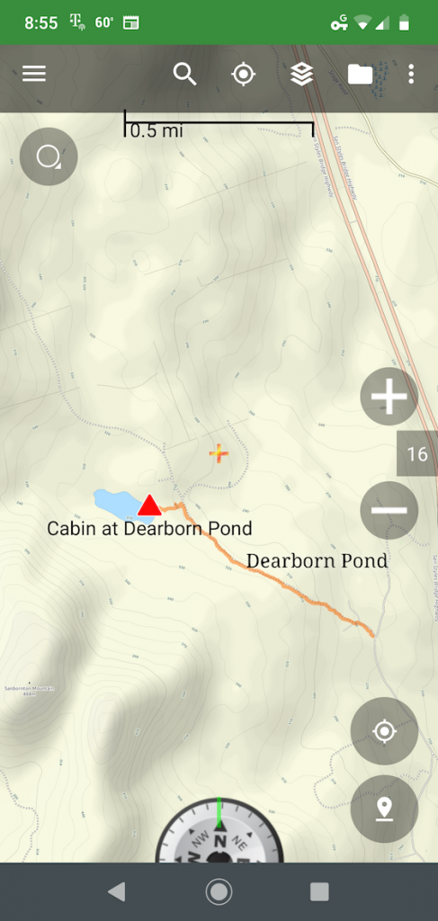 dearborn pond gps track