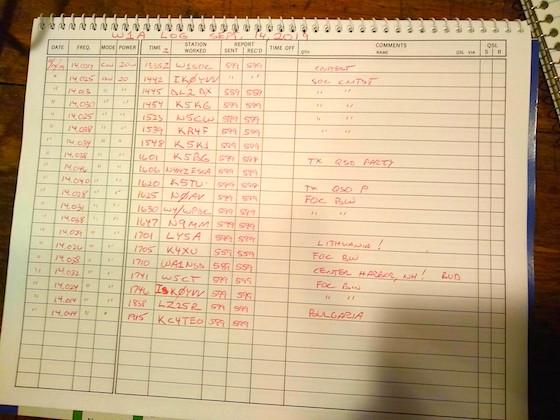 W1A logbook