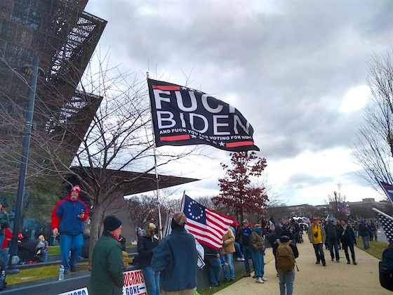 March for Trump Biden Flag