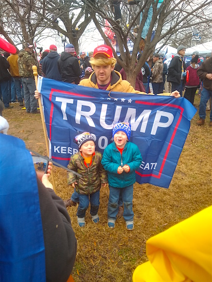 March for Trump Two Boys