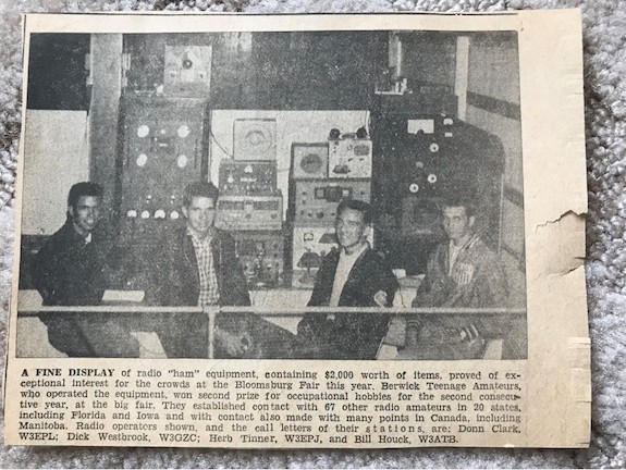 newspaper clipping ham radio
