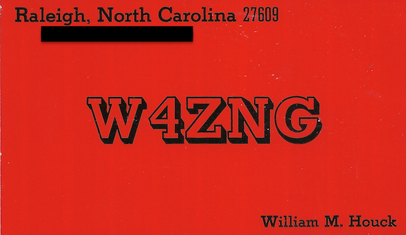 W4ZNG QSL card