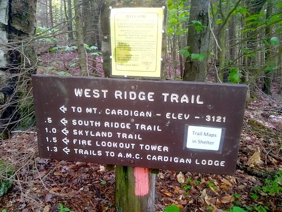 Cardigan Mountain West Ridge Trail